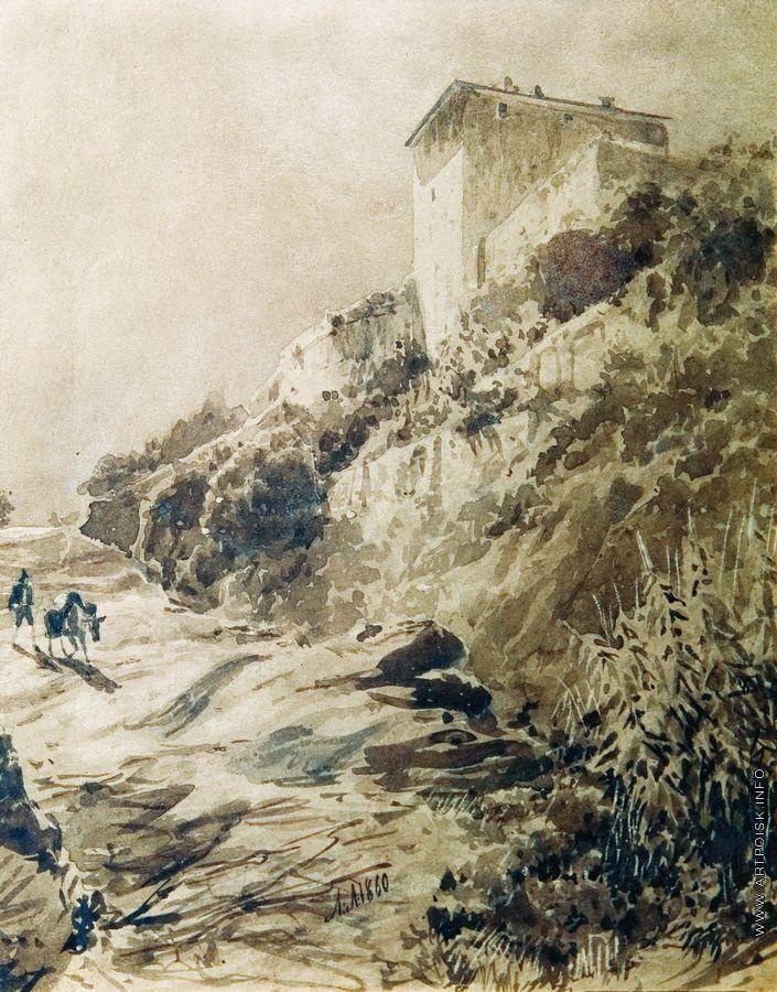 Lev Lagorio - Crimean Landscape (1860)