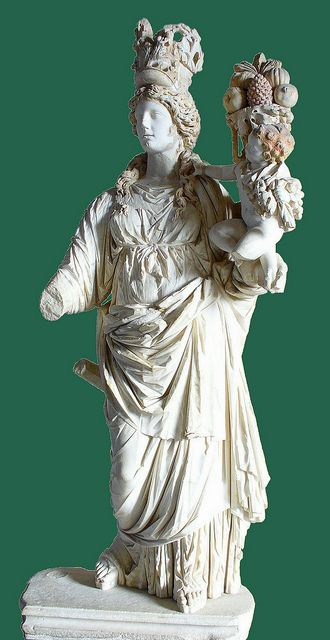 AB Istanbul Archaeological Museum - The goddess Tyche holding in her arms Plutus…