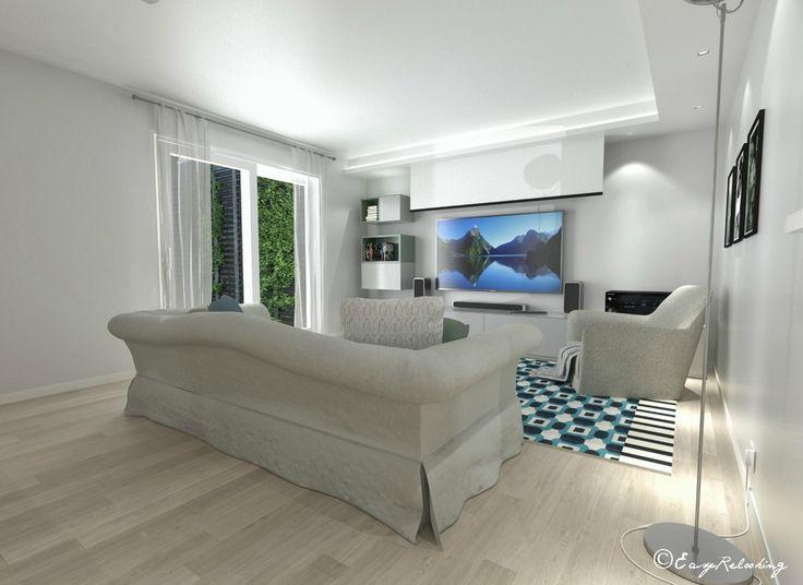 Basement room project – 3d visualization    Progetto taverna