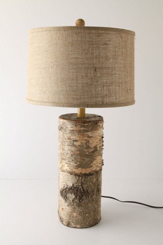 36 amazing diy log ideas nature logs and drift wood for Diy table lamp ideas