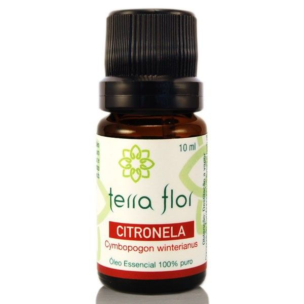 O Óleo Essencial de Citronela é um repelente natural com função cicatrizante e afasta os insetos.