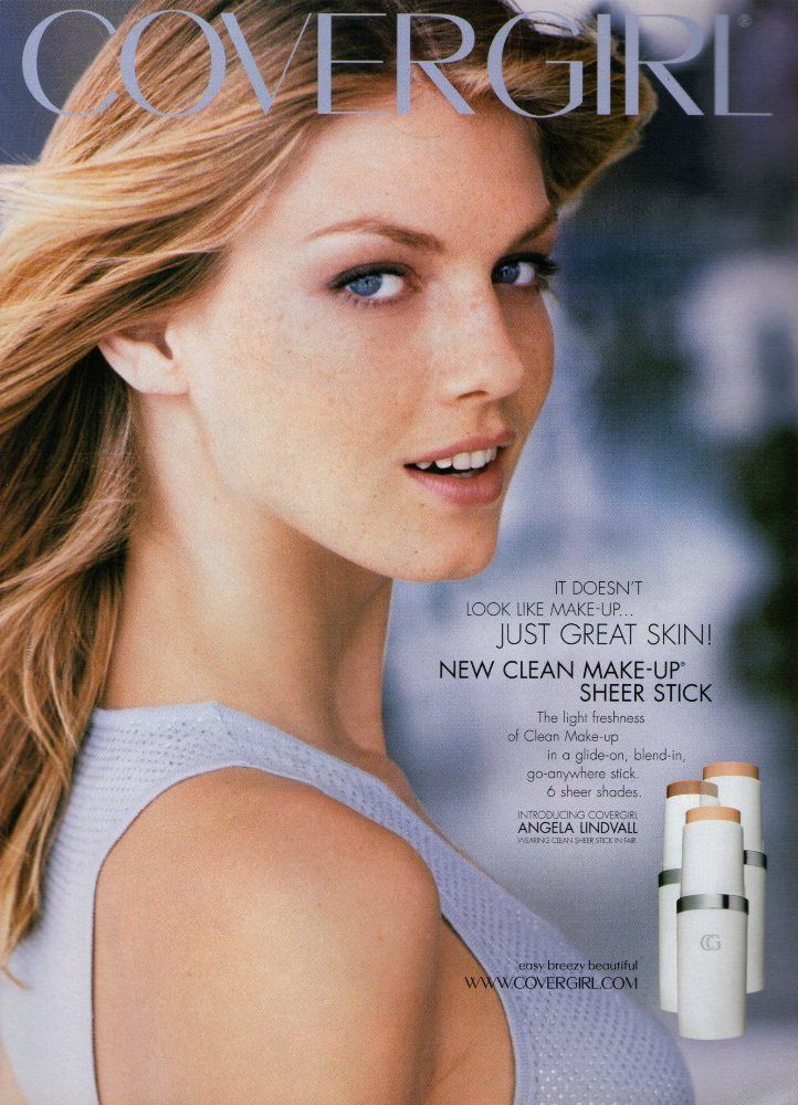 2000 CoverGirl Ad Page ANGELA LINDVALL /J CoverGirl