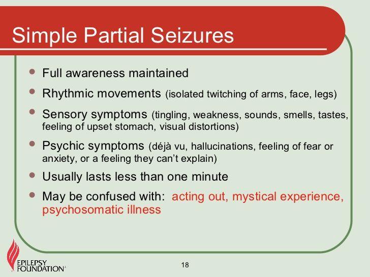 Simple Partial Seizures (Focal Onset Aware Seizures)