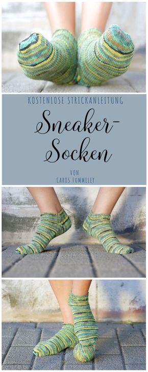 Kostenlose Anleitung: Sneaker-Socken stricken für Veganer und Allergiker