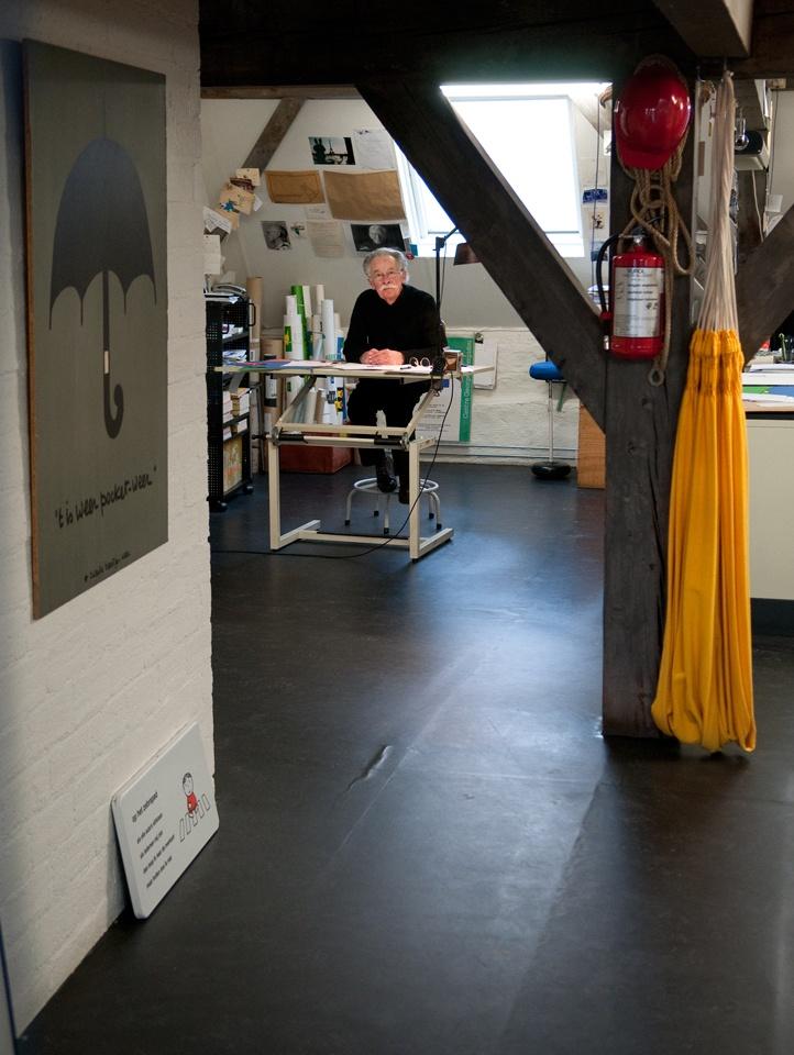 Dick Bruna's studio in Utrecht, Netherlands