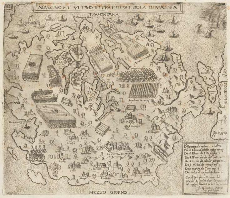 Novissimo et Ultimo Rttrato Del Isola Di Malta, [Venedig], [ca. 1565]