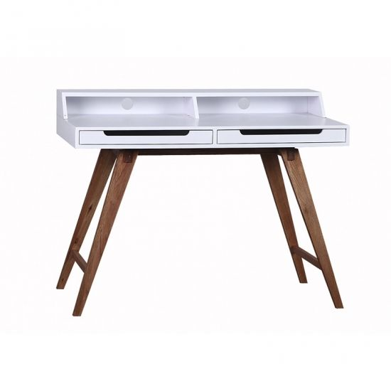 Durham skrivbord vit/valnöt i gruppen Möbler / Arbetsplats / Skrivbord hos Chilli AB (OD13102W)