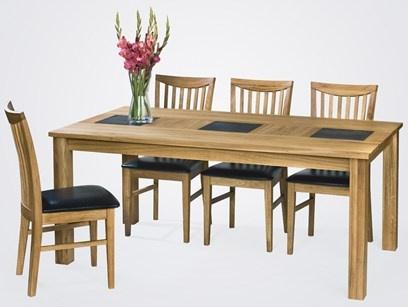 Confident Living Arizona matbord  Massivt oljad ek och skiffer 180x100, h=75