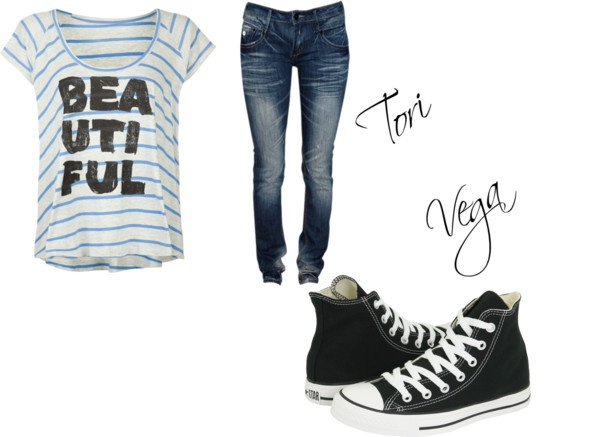 """Tori vega's outfit"" by torivega ❤ liked on Polyvore - the new girl who does not have a name yet"