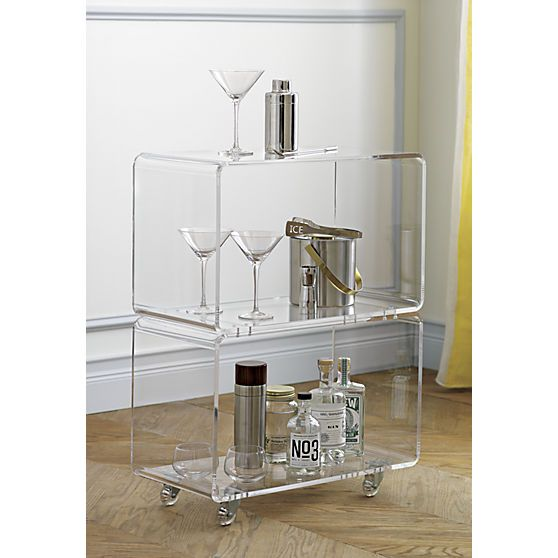 Best Peekaboo Acrylic Rolling Two Shelf Tables Shelves And 400 x 300