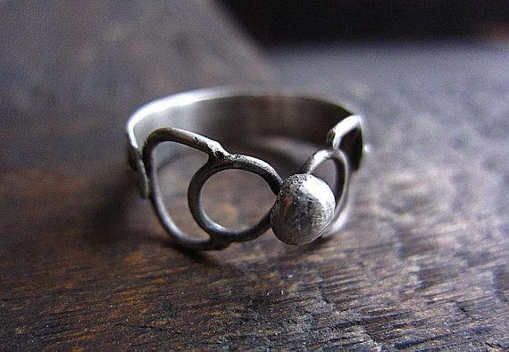 Sterling Silver Ring, Statement Ring, Boho Ring, Rustic Ring, Every Day Rring, Gift for Her, Silver Jewelry