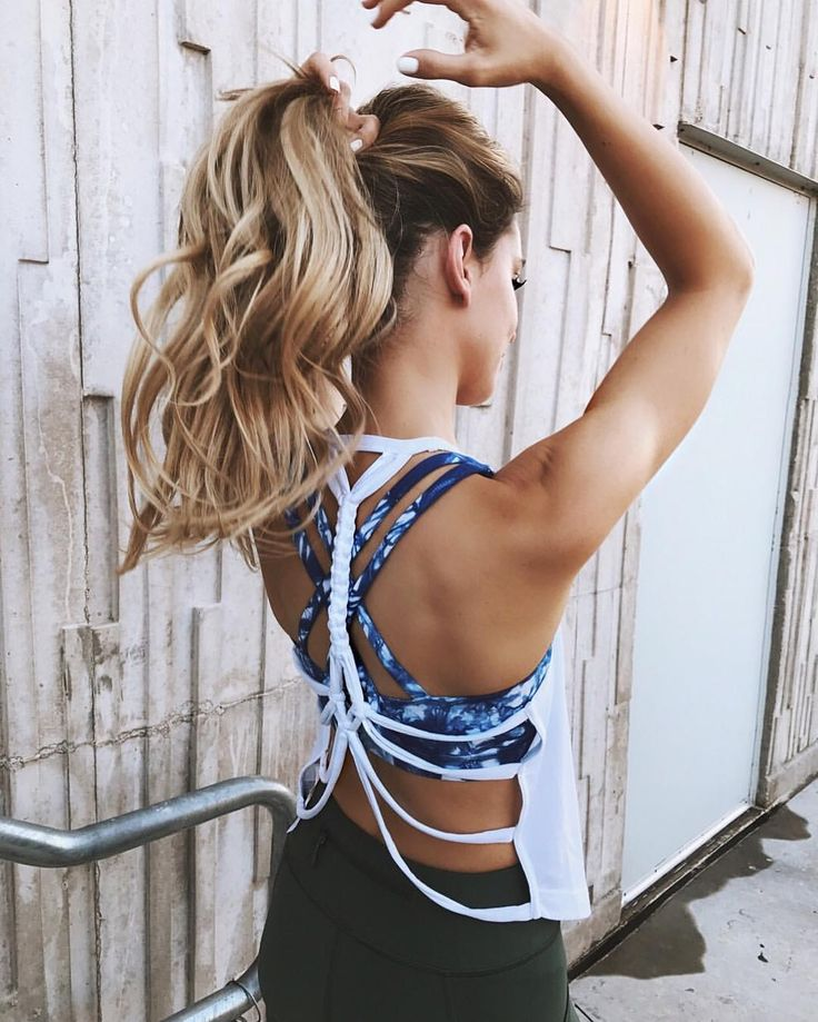 Strappy back tank top