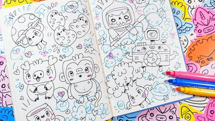 Como Dibujar Libreta Kawaii Paso A Paso Dibujos Kawaii: Libreta De Bocetos Cómo Dibujar Kawaii
