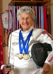 84 year old fencer keeps fencing! - Repinned by Hub City Fencing Academy of Edison, NJ