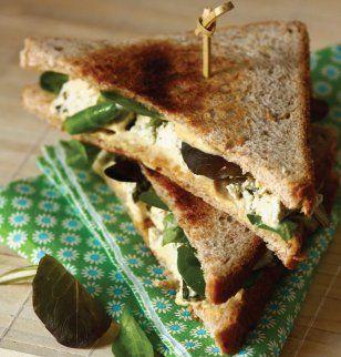 Club sandwich au tofu / Recette / Recipe
