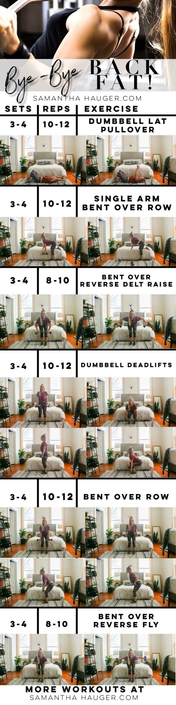 How To Get Rid Of Back Fat. How To Lose Back Fat. Exercises for back fat. Back workout for women. Back exercises. How to lose back fat. by beulah