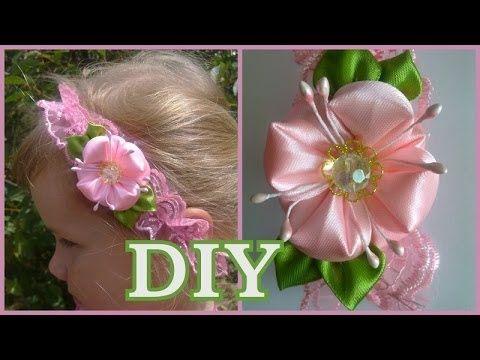 tutorial como hacer flores en citas fácies. moños pequeños en cintas . vídeo No.194 - YouTube