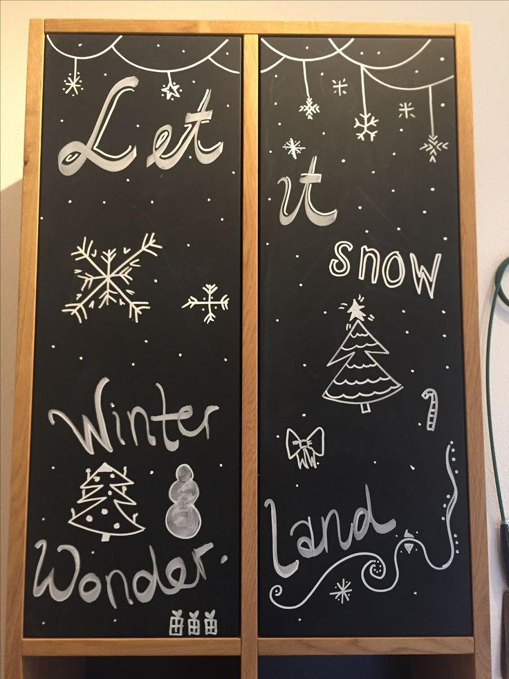 Handlettering auf Tafellack, Winterwonderland