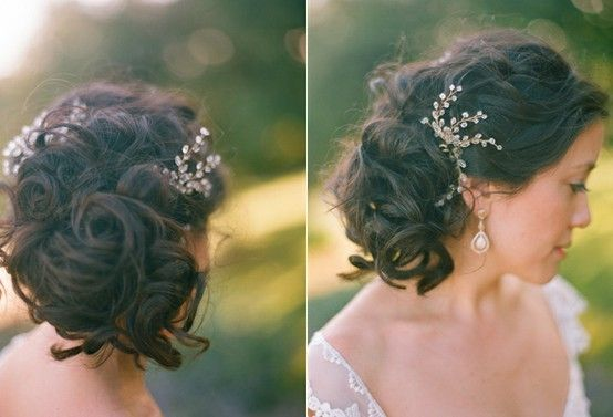 Bridal Hair: Up, down, or somewhere in between? | a buttercream ...