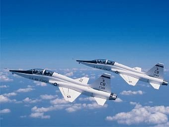 T-38 Talons in formation.  :)  What a rush... they paid us to do this!!!