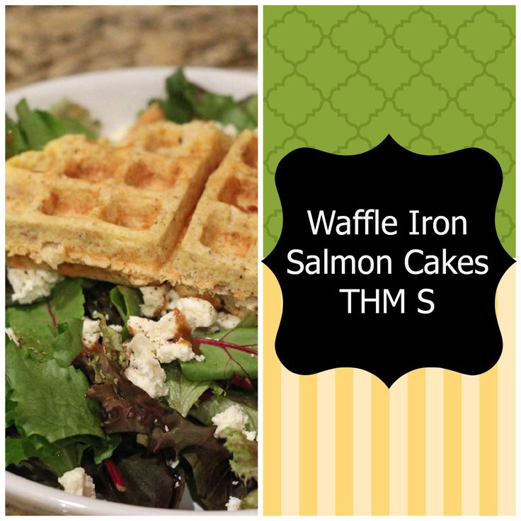 Easy and healthy salmon cakes made in your waffle iron. Makes no flipping needed and neat presentation