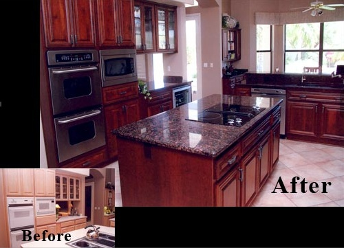 Cabinet refacing oak cabinets and cabinets on pinterest for Oak kitchen cabinet refinishing