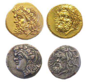 Representations of Pan on 4th-century BC gold and silver Pantikapaion coins