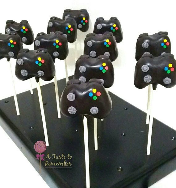 12 Video Game Controller Cake Pops by ATasteToRemember on Etsy