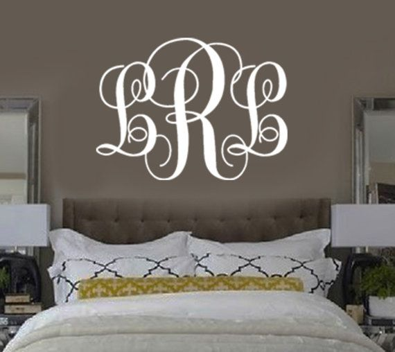 Unique Monogram Wall Decals Ideas On Pinterest Personalized - Coral monogram wall decal