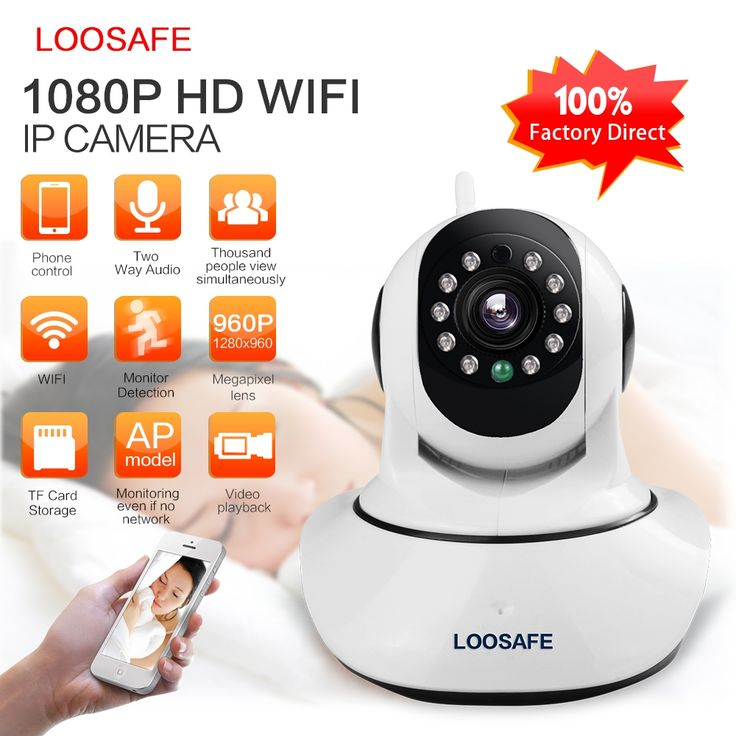 (49.91$)  Watch more here - http://ai9z6.worlditems.win/all/product.php?id=32697277538 - LOOSAFE HD 1080P IP Camera WIFI Camera Surveillance Camera 2 MP Baby Monitor Wireless P2P IP Camara PTZ Wifi Security Cam