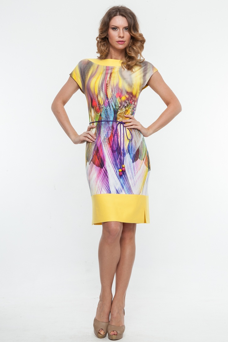 Rochie tricot imprimat cu linie dreapta