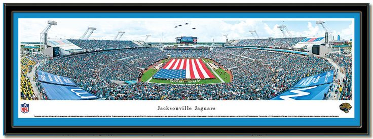 The Jacksonville Jaguars playing at EverBank Field opening ceremonies with the magnificent American flag covering the field.