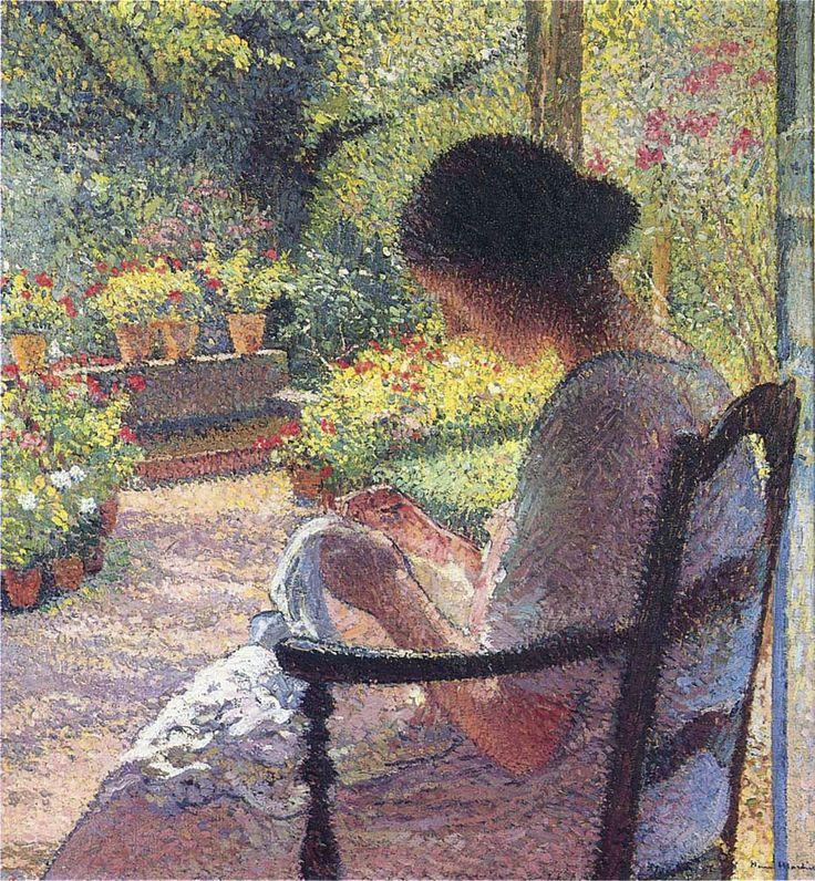 The Woman Sewing - Henri Martin - WikiArt.org
