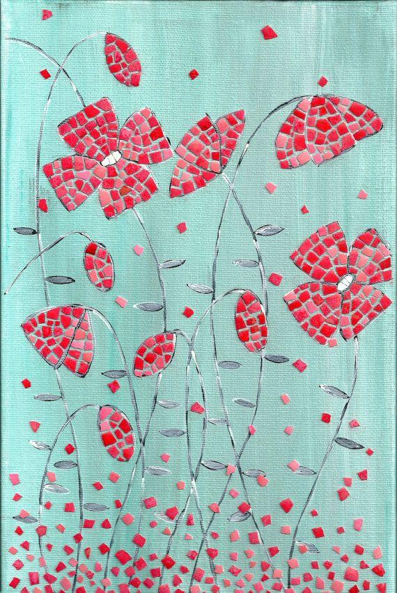 Set contemporaneo di arte originale acrilico pittura di MKmosaic