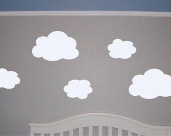 Sticker nuage Stickers muraux nuage or argent murale par Jesabi