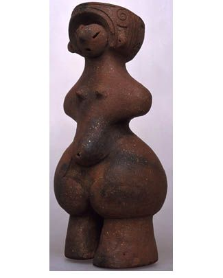 Tanabatake 'Venus', British Museum, 1500 to 1000 BC. Dogu are from the earliest-dated tradition of pottery manufacture in the world, dating to the prehistoric Jomon period, which began 16,000 years ago.