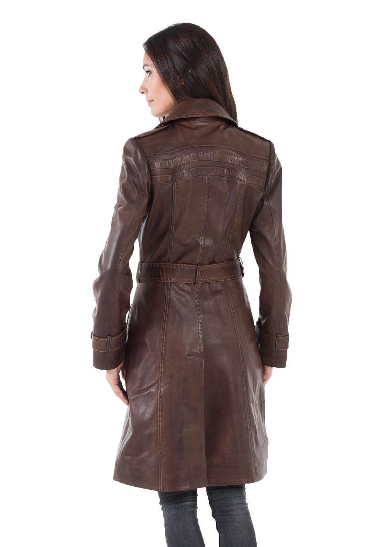 Manteaux en cuir CUIRS GUIGNARD en cuir agneau-ref MODESA yag16-noir
