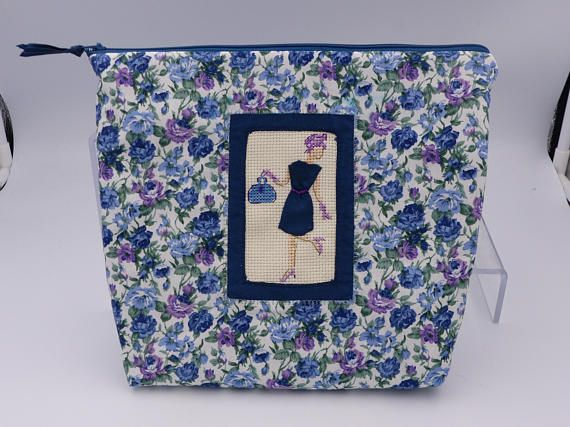 trousse toilette // trousse maquillage // broderie main //