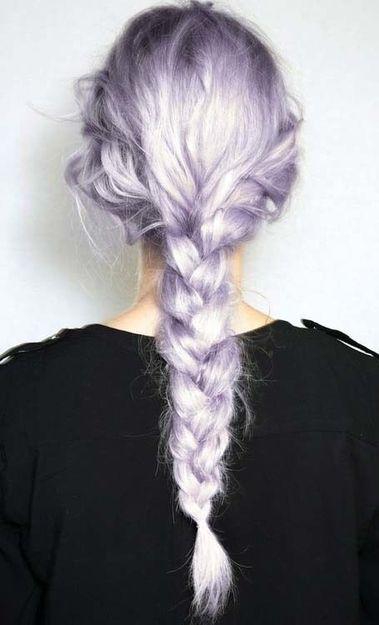Pretty purple messy braid