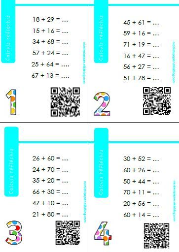 les calculs réfléchis | Calcul, Exercice math ce1 et Maths ce1