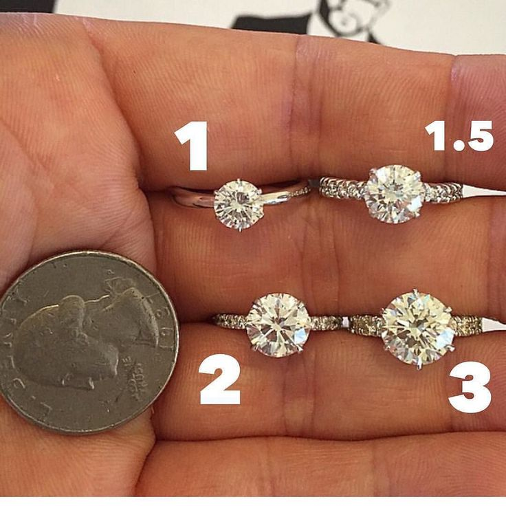 -- Okay! Fantastic carat size/weight information from @diamondguy808  in this order  1 carat 1.5 carat 2 carat and 3 carat! Tag a BFF  and tell them you perfect size! via @gem_hunt