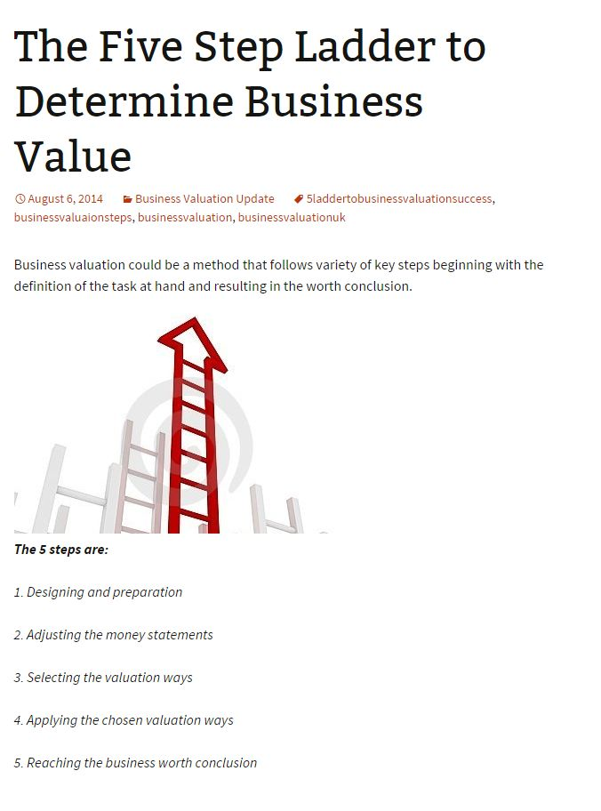 Business Valuation  Business And Company Valuation