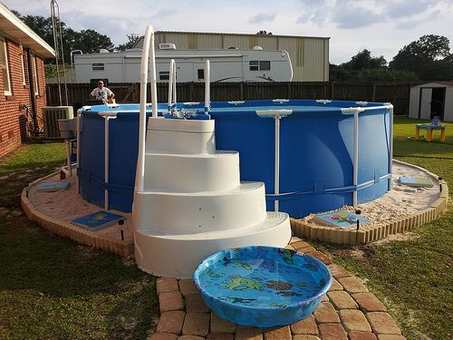 Landscaping Around Base Of Intex Ultra Frame Pools Page 2 Pool Pinterest House Och