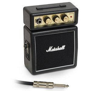 mini marshall amp    Portable God of ROCK!  Looks and sounds like a full-size Marshall Amp  Handy belt clip for hands-free operation  Headphone jack allows private listening