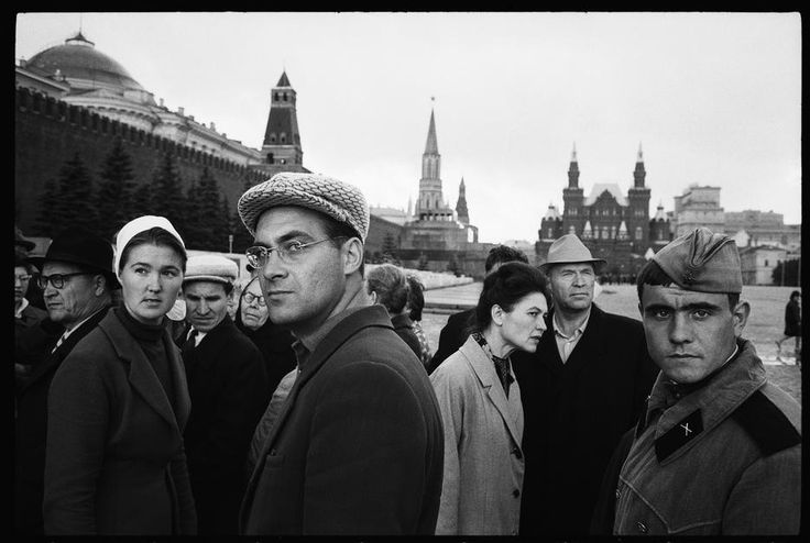RUSSIA. 1965. Moscow. People in Red Square.