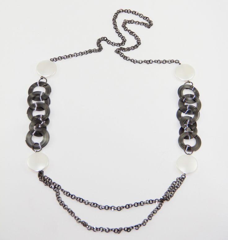 Black Nikel Hallka kolye 52 cm uzunlugunda. www.suanyemoda.com