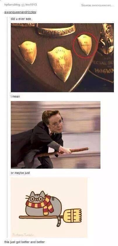 I don't care if the timeline doesn't fit--McGonagall on the same team as James Potter? No way-- but I'm going to love this anyway.