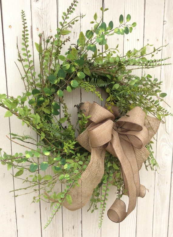 Year round wreath,Double door wreath, Green Wreath, Fall Wreath , everyday Wreath,all season wreath Spring Wreath, Front Door Wreath, Natural wreath,Everyday Wreath More Every Day Wreaths https://www.etsy.com/shop/Keleas?section_id=13614682&ref=shopsection_leftnav_2 Spring Wreaths https://www.etsy.com/shop/Keleas?section_id=12965508&ref=shopsection_leftnav_8 This warm green wreath is just right for any season. The lovely ribbons are just the right amount of texture to bring out all of the…