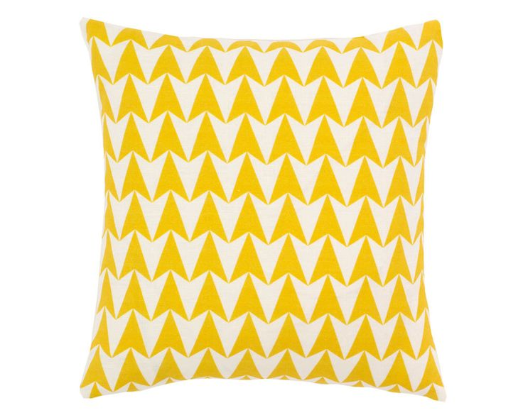 Contemporary Cushion Cover - Geometric Pillow - Aldgate East Mustard - Yellow & White Geometric Pattern by OurGreenRoomDesign on Etsy https://www.etsy.com/listing/222230426/contemporary-cushion-cover-geometric