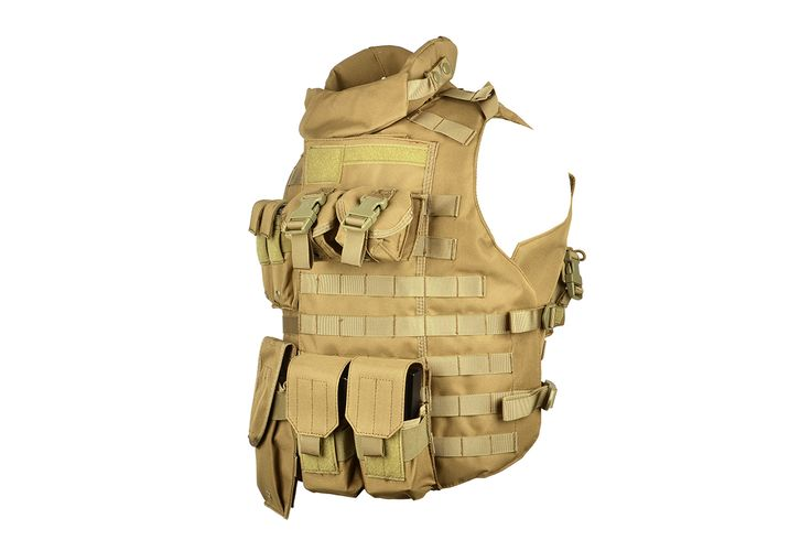 AMA 600D MOLLE Interceptor Body Armor OTV - TAN | Airsoft Megastore